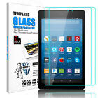 2XTempered Glass Screen Protector For New Amazon kindle Fire HD 7/8 7th Gen 2017