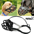 Small Medium Large Dog Muzzle Basket No Bit Flexible Plastic Cage Adjustable USA