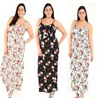 Ladies Women's Cami Straps Floral Prints Long Maxi Dress Plus Size UK 16-26
