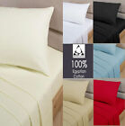100% Egyptian Cotton 200 Thread Count Fitted Bed Sheets 30 CM Extra deep Fit
