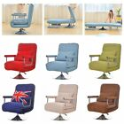 Folding Arm Chair Sleeper Convertible Rotation Sofa Bed Recliner Lounge Couch