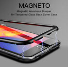 360° Magnetic Metal Bumper Tempered Glass Clear Case Cover For iPhone X/7 8 Plus  iphone x cases 360 3326580446444040 1