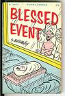 BLESSED EVENT by Bill O'Malley, rare US Perma Book baby cartoon pulp vintage pb