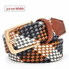 110 inch to cm - TOP QUALITY Braided Cotton Weave Mens Dress Casual Belt ( More - Colors)
