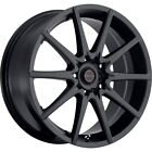 16X7 Focal 428SB F-04 Black Wheels Rims +42 4X100 & 4X108 Qty 4