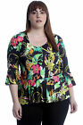 New Womens Top Ladies Paisley Chain Print Frill Blouse Summer Floral Tunic Round