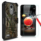 For LG Phoenix 4/Rebel 4/Fortune 2/Zone 4 Case Stand Belt Clip+Screen Protector