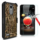 For LG Rebel 4/Phoenix 4/Fortune 2/Zone 4 Case Stand Belt Clip+Screen Protector