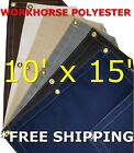 10' x 15' Workhorse Polyester Waterproof Breathable Canvas Tarp