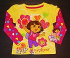 DORA the EXPLORER & BOOTS Long Sleeve Tees Shirt NWT Toddlers Sz 2T 3T or 4T $16