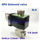 2 way water normally open solenoid valve 2.5mm/3mm zero-pressure start plug type