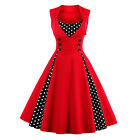 Womens Vintage Style Retro 1950s Swing Dress Rockabilly Evening Party Plus Size