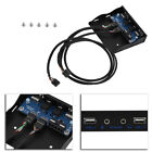 """3.5"""" inch 9 Pin to USB 2.0 Mic Audio Floppy Drive Bay Front Panel For Desktop PC"""