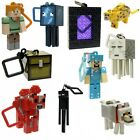 Minecraft 3D Key chain x 10 key ring belt hangers toys series 2 party favours