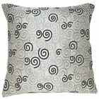 "(ng03a) Grey Ash Grey Curve Linen Blend Sofa Cushion Cover/Pillow Case*16""x16"""