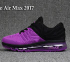 RUN RUNING AIR MAX2017 Athletic sport shoes purple with black for women