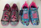New Skechers Light Up Multi-Color Laces Girls's Sneakers Sho