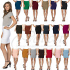 "Womens Stretchable Mini Pencil Skirt - Above The Knee 19"" Length Classic Skirt"