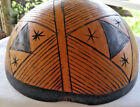 VINATGE COCONUT HAND CARVED DECORATED BOWL ~~ UNIQUE TAKE A LOOK