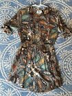 Anthopologie Holding Horses Dress Tunic Brown Paisley Pattern, Size 4