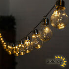 30 Outdoor Solar Powered Bulbs LED 6.35m Garden String Retro Lights Solaray™