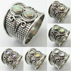 925 Sterling Silver Genuine OPAL & Other Gemstone ART Rings ! Variation To Pick