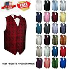 Kyпить Men's Paisley Formal Tuxedo Vest, Bow-Tie & Hankie set. Wedding, Prom, Cruise на еВаy.соm