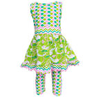 AnnLoren Girls Merry Mermaids Dress and Capri Outfit 2/3T-13/14
