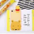 HOT 3D Gift Cute Kawai Cartoon Animal Dolls Soft Silicone Case Cover For iPhone