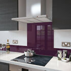 Deep Purple Toughened Glass Splashbacks and Upstands - Made By Premier Range