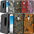For [ LG Stylo 4 / Stylus 4  ] Hybrid Shock Heavy Duty Holster Case Clip Camos