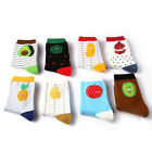Cotton Cute Fruit Print Women's Socks Retro Embroidery Long Colorful Funny Hot