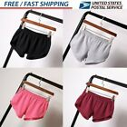 Plus Size Women Sports Yoga Shorts Short Pants Elastic Casua