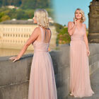 Ever-Pretty Long Lace-up Bridesmaid Dresses Party Evening Ball Prom Gown 07303
