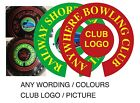 PERSONALISED BOWLS STICKERS ANY WORDING/PHOTO 1 inch  INDOOR BOWLs