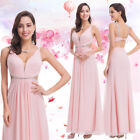 Ever-Pretty Long Formal Dresses Pink Bridesmaid Dress Cocktail Prom Gown 07081