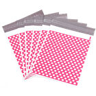Pink Polka Dots Plastic Parcel Mailing Postal Bags Packing Envelopes Polythene