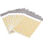 Gold Polka Dots Plastic Parcel Mailing Postal Bags Packing Envelopes Polythene