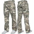 """Kruze Mens Military Combat Trousers Camouflage Cargo Camo Army Casual Work Pants <br/> Waists Sizes 30'' - 50"""" 6 Pocket Camping Hiking Combats"""