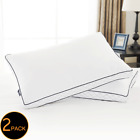 Standard Queen / King Size Goose Down Bed Pillow Set of 2 Pillows Bedding Set image