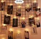 LED Photo Clip String Lights Battery Operated for Bedroom Hanging Cards fashion
