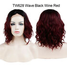 Deluxe Straight Wavy Curly Hair Glueless Lace Front Full Wig Two Tone Color R5T3