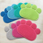 Dog Puppy Paw Shape Placemat Pet Cat Dish Bowl Feeding Food PVC Mat US Surprise