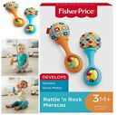 FISHER PRICR BABY TOY, Fabric Rattle, Baby Motor Training - 2 COLORS,