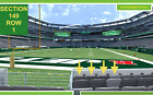 3 Front row New England Patriots at New York Jets tickets section 149 row 1 on eBay