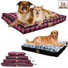 Waterproof Large Pet Dog Bed Cushion Kennel Dog Mat Mattress &Removable Cover XL