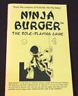 Ninja Burger the Role-Playing Game NM 9th level games beer engine