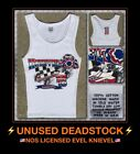 Vtg 90s Evel Knievel Harley Davidson Motorcycle Dragster NHRA Tank Top T-shirt $24.99 USD on eBay