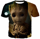 Guardians of the Galaxy 3D T-Shirt Marvel Baby Groot Superhero Movie Men Women