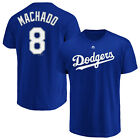 Manny Machado Los Angeles Dodgers LA 8 Majestic Authentic Mens Jersey T Shirt